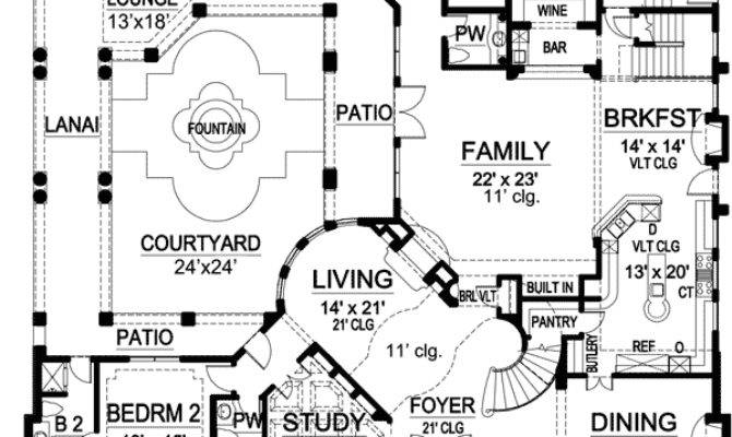 House Plans Central Courtyards Home Deco