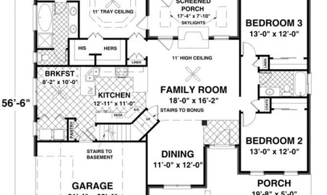House Plans Contempory Style Plan