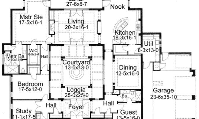 House Plans Courtyards Smalltowndjs