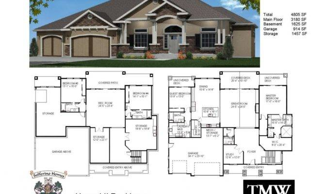 House Plans Daylight Basements Elegant Rambler