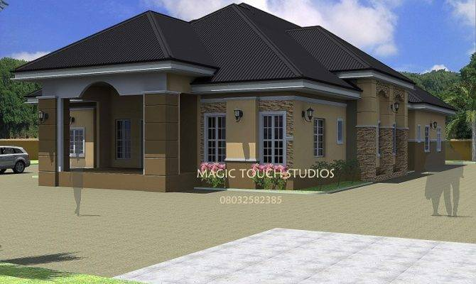 House Plans Design Architectural Two Bedroom Bungalow