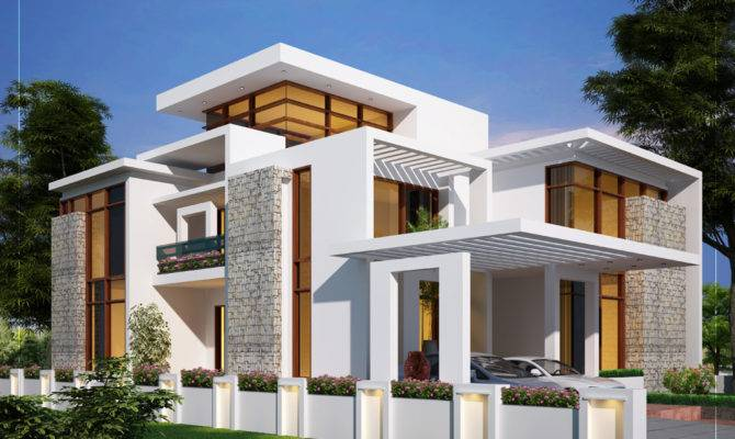 House Plans Design Contemporary Style Kerala