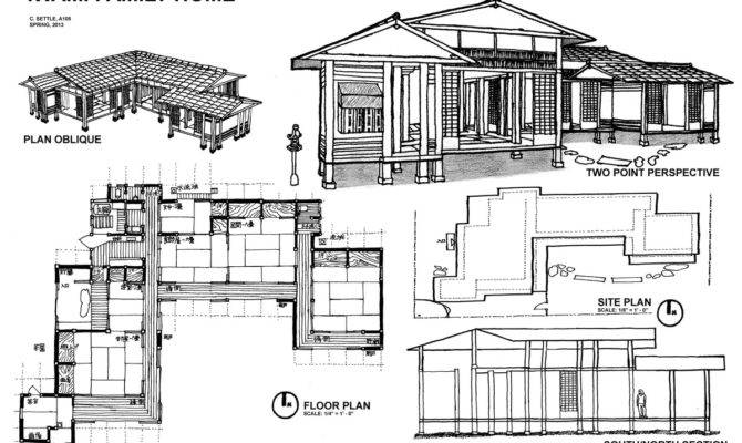 House Plans Design Modern Japanese Floor House Plans 137717