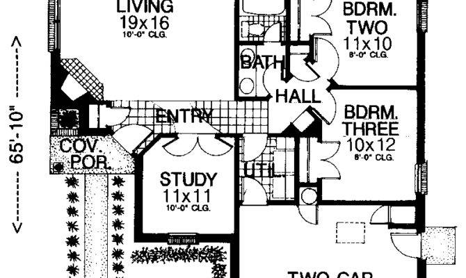 House Plans Design Modern Zero Lot Line