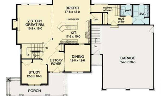 House Plans Design Two Story Great Room