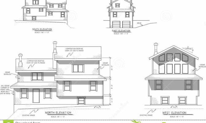 House Plans Elevation Illustration