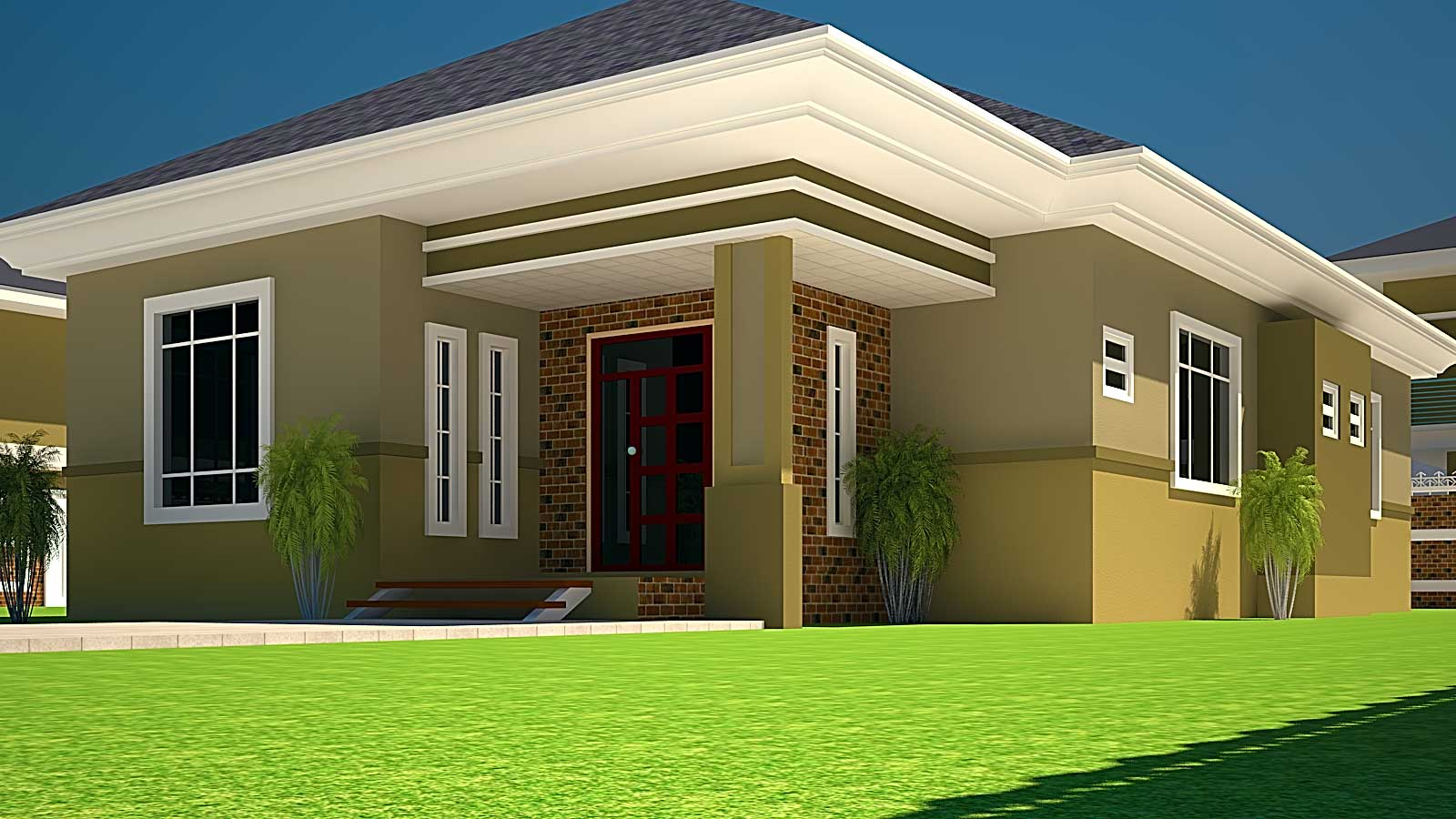House Plans Ghana Bedroom Plan Half Plot House Plans 48742