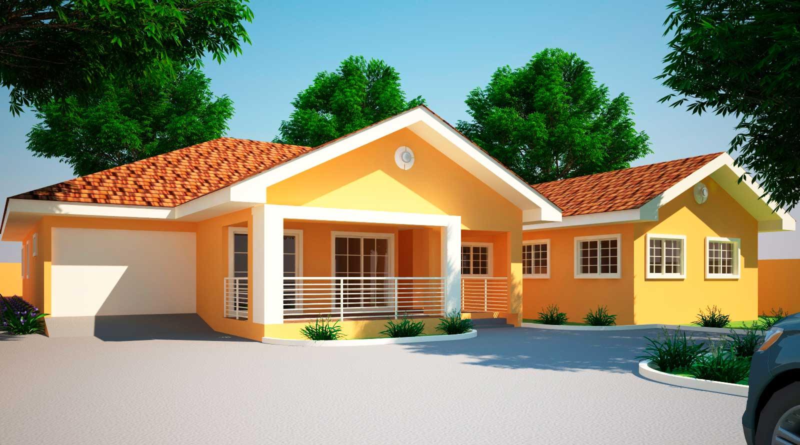 House Plans Ghana Jonat Bedroom Plan House Plans 2042
