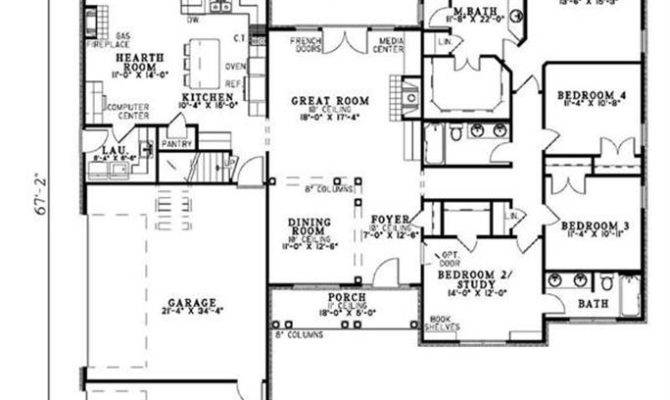 House Plans Hearth Room Off Kitchen
