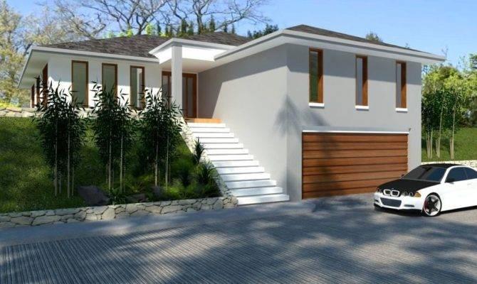 House Plans Hillside Bed Home Designs Sloping Land