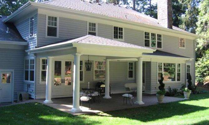 House Plans Large Covered Decks Homes Tips Back Patio