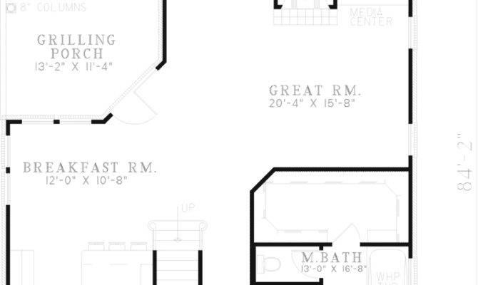 House Plans Narrow Lot Rear Garage