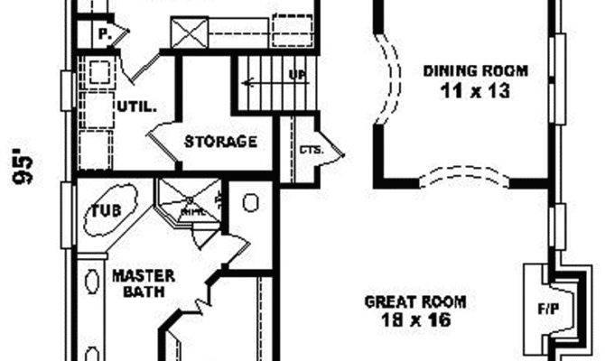 House Plans Narrow Lot Smalltowndjs