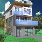 House Plans Narrow Lots Garage Under