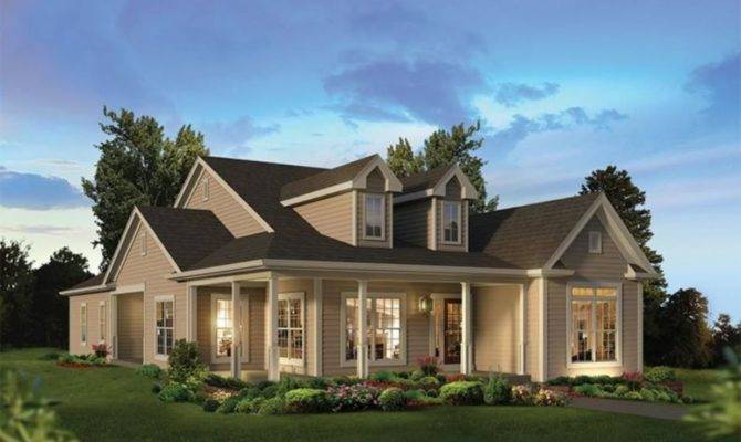 House Plans Porch Across Front Impression Small