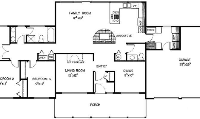 House Plans Ranch Bedroom Homes Floor