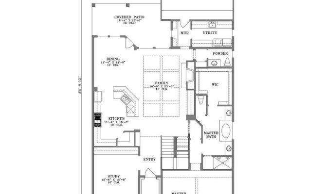 House Plans Rear Garage Side Back Cottage Basement