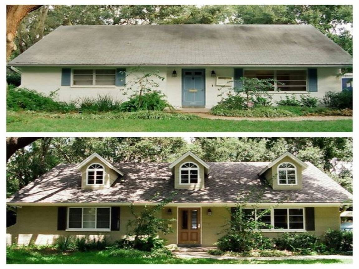 House Remodel Before After Ranch Home - House Plans | #159441