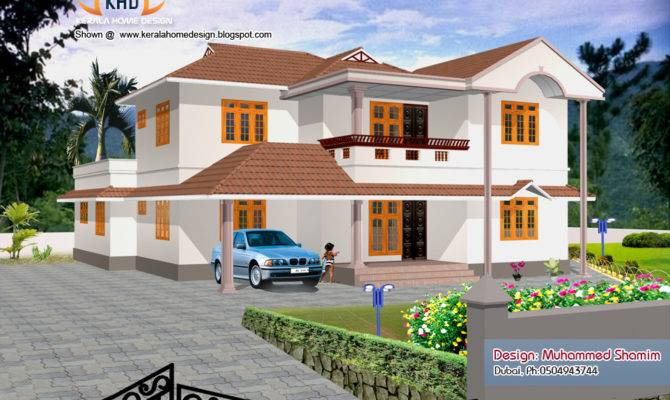 House Renderings Kerala New Home Plans Style Homes