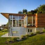 House Simple Beach Home Designs Large Glass Windows