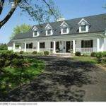 House Traditional Cape Cod Black Shutters Door Shingles White