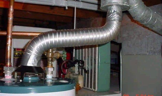 House Water Heater Vent Pipe Right