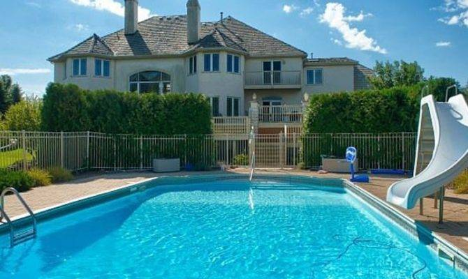 House Wow Two Story Windows Overlook Outdoor Pool