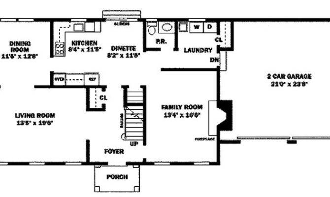Houseplans Colonial Main Floor Plan