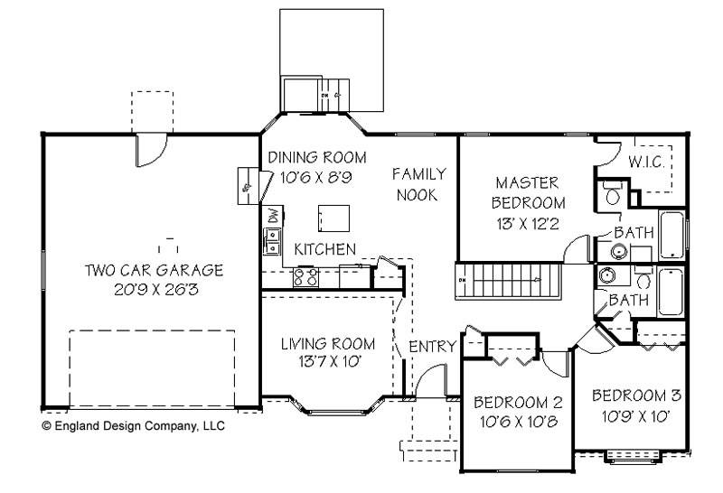 Houses Floor Simple Ranch House Plans Home Plan Designs House Plans 12950