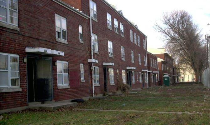 Housing Project Broken Sidewalk