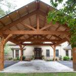 Houston Timber Frame Traditional Garage