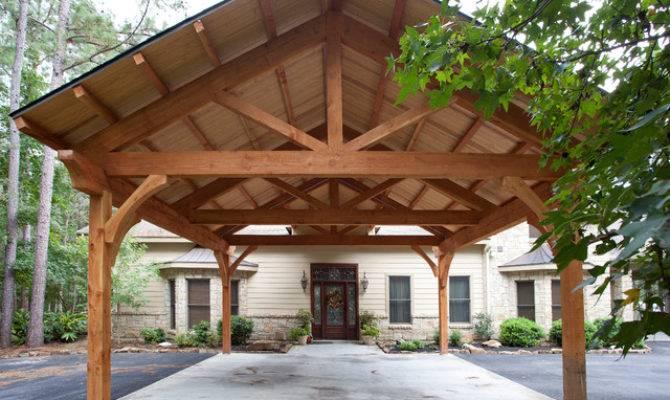 Houston Timber Frame Traditional Garage
