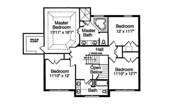 Hummingbird Hill Two Story Home Plan House