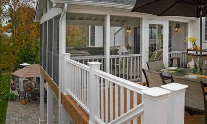 Ideas Cool Porch Deck Screening Steps Build