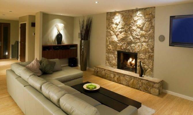 Ideas Fireplace Small Basement Design