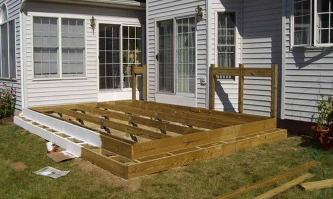 Ideas Floating Deck Plans Make Wood