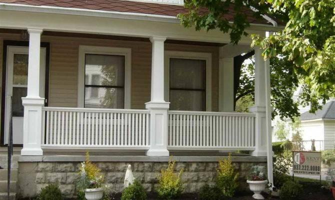 Ideas Front Porch Columns White Fences