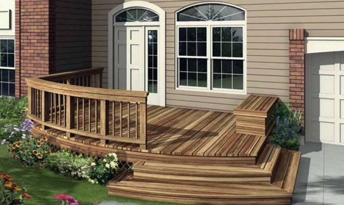 Ideas House Deck Design Front Houses Outdoors Plans