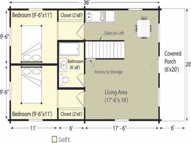 Ideas Log Cabin Floor Plans Project House Plans 9909