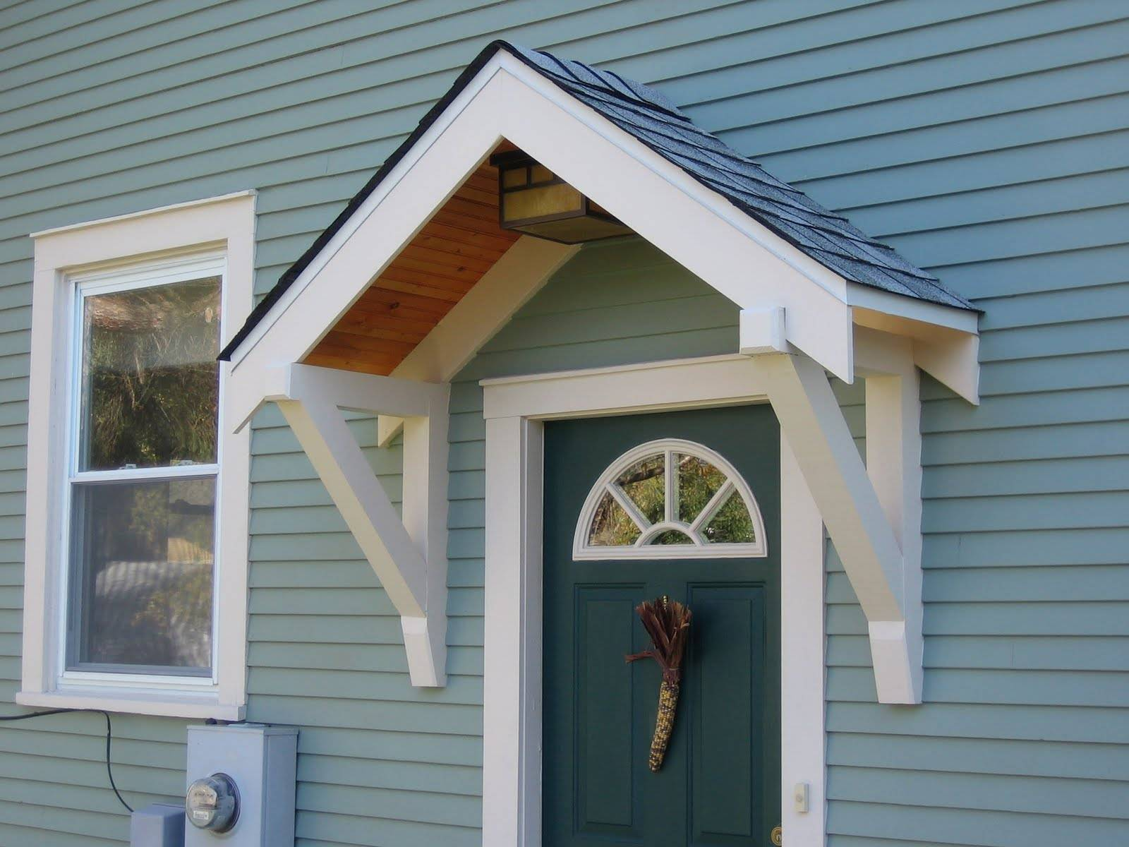 Ideas Porch Awning Pinterest Door Canopy House Plans 88379