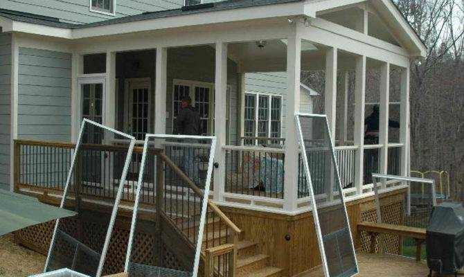 Ideas Screened Porch Houses Deck