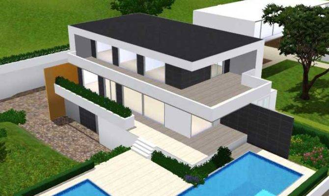 Ikaria Modern House Sims Gamer