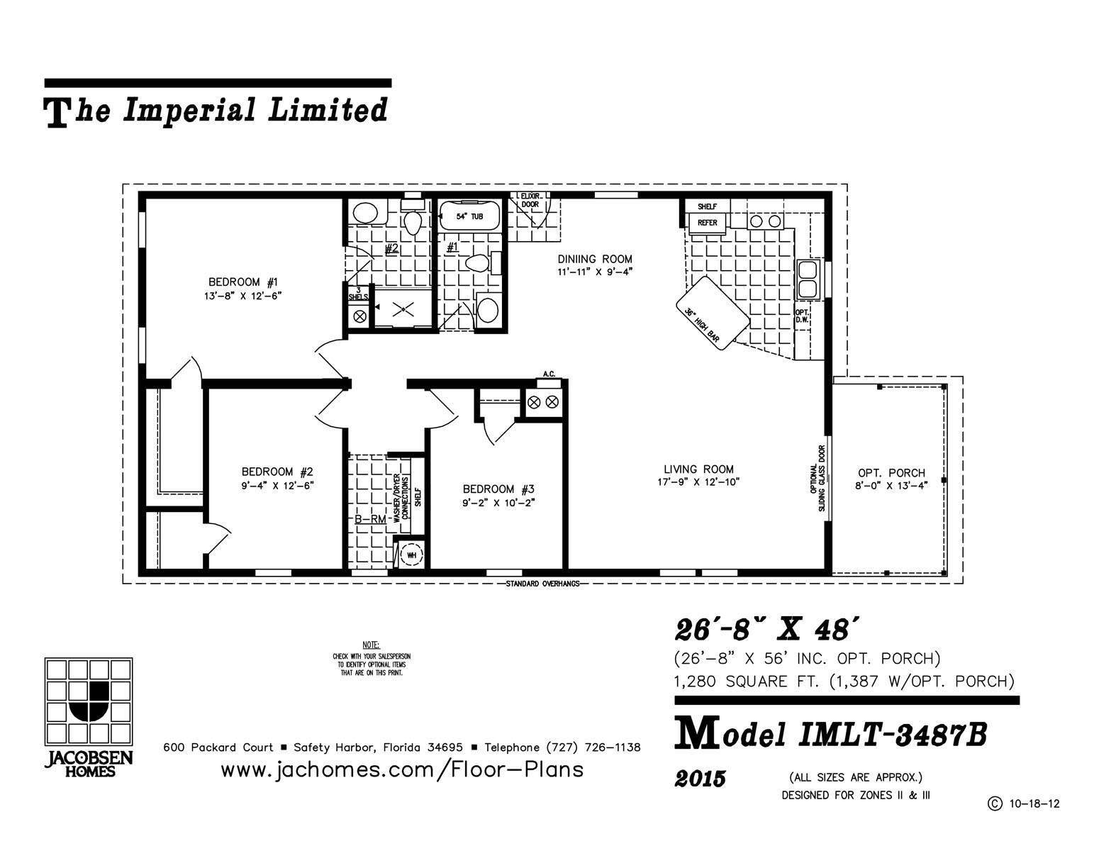 Imlt Mobile Home Floor Plan Ocala Custom Homes House