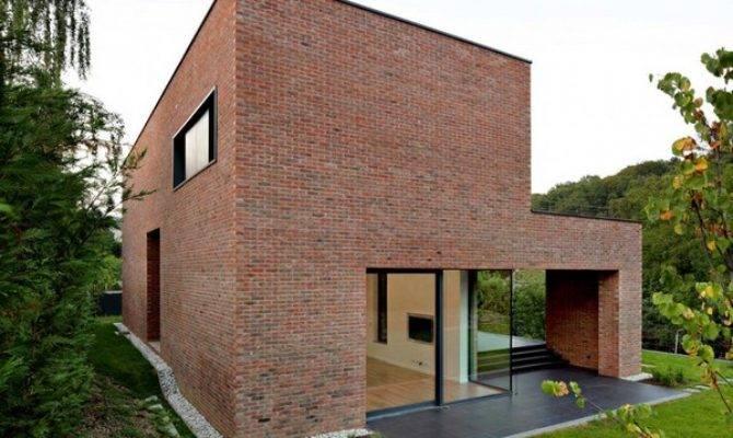 Impressive Brick Monolithic Home Minimalist Interiors