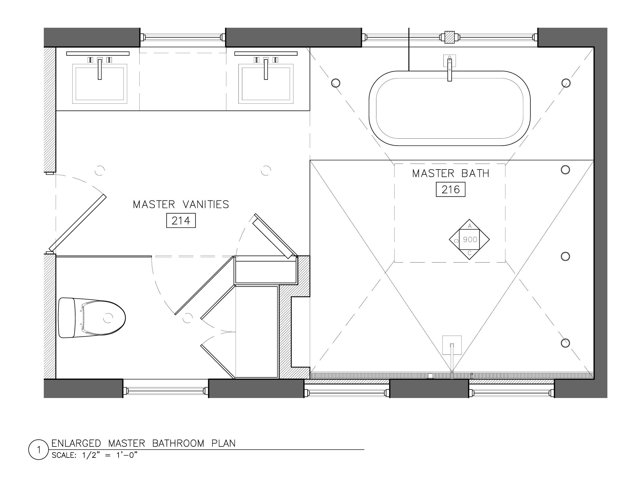 small master bath layout