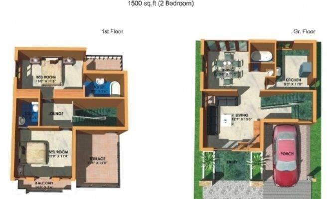 Indian House Plans Duplex Plan
