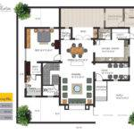 Individual Bungalows Floor Plan Ground East Facing Villa