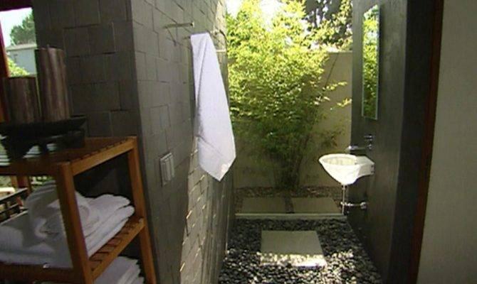 Indoor Outdoor Bathroom Hgtv