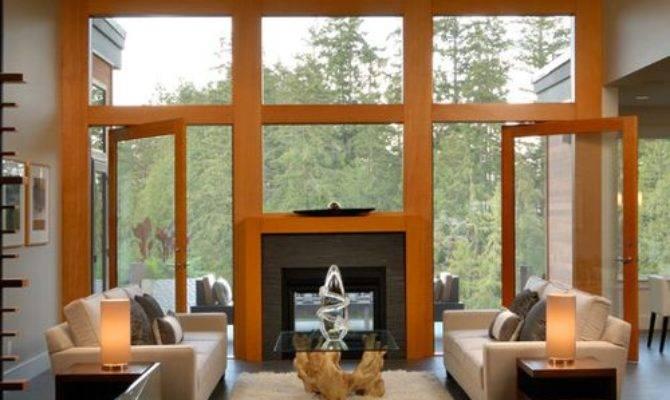 Indoor Outdoor Fireplace Home Design Ideas