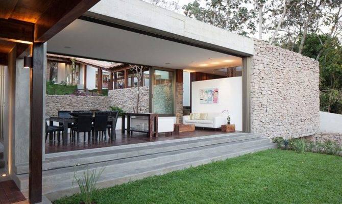 Indoor Outdoor Home Design Multi Level Garden House